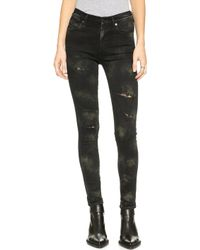 Citizens Of Humanity Rocket Hand Painted Skinny Jeans - Glam Punk - Lyst