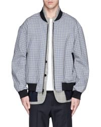 3.1 Phillip Lim Houndstooth Check Combo Gingham Wool Jacket - Lyst