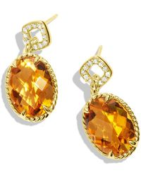 David Yurman Chatelaine Drop Earrings with Citrine and Diamonds in Gold - Lyst