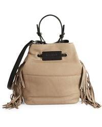 Kenneth Cole - Fringe Leather Bucket Bag - Lyst