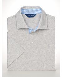 Polo Ralph Lauren Custom-fit Stretch-pima Polo - Lyst