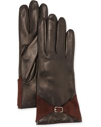 Portolano Leather Buckle Glove - Lyst