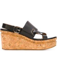Scanlan Theodore | Cross Front Wedge Sandals | Lyst