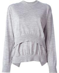 Alexander Wang Layered Merino Sweater - Lyst
