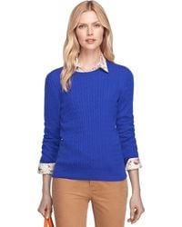 Brooks Brothers Cashmere Cable Knit Crewneck - Lyst