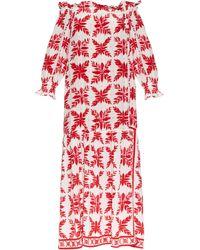 Easton Pearson Take Away - Island Frond-print Silk Dress - Lyst