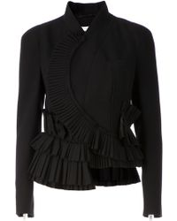 Givenchy Asymmetric Ruffled Peplum Jacket - Lyst