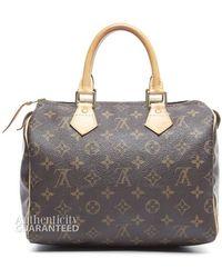 Louis Vuitton Pre-owned Monogram Canvas Speedy 25 Bag - Lyst