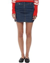 See By Chloé Blue Denim Skirt - Lyst