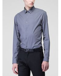 Costume National Grey Poplin Shirt - Lyst