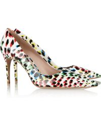 Miu Miu Leopardprint Patentleather Pumps - Lyst