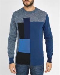 DIESEL | Blue Patchwork K-blokko Sweater | Lyst