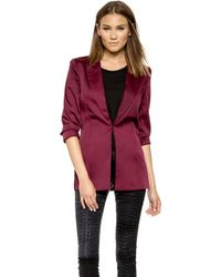 StyleStalker - Venus Blazer - Pomegranate - Lyst