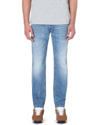 Diesel Belther Slimfit Tapered Stretchdenim Jeans Blue - Lyst