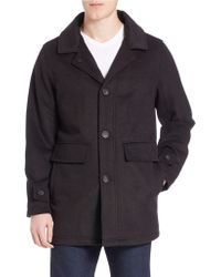 Calvin Klein | Wool Button Front Car Coat | Lyst