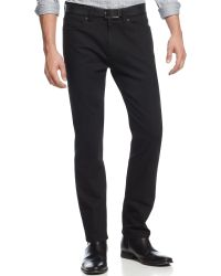 Vince Camuto Dark Denim Slim Fit Jeans - Lyst