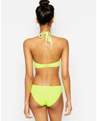 Miss Mandalay - Fluro Los Angeles Underwired Halter Bikini Top D-gg - Lyst