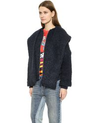 Marc By Marc Jacobs Maks Bomber Jacket - Normandy Blue - Lyst