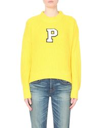 Chocoolate - P-appliqué Knitted Jumper - Lyst