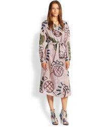 Burberry Prorsum Handpainted Cotton Silk Trench - Lyst
