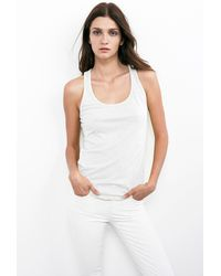 Velvet By Graham & Spencer Prudence Racer Back Tank Top - Lyst
