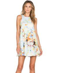 JOA Round-Neck Jersey Dress multicolor - Lyst