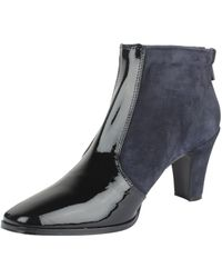 Hache - Suede And Patent Leather Ankle Boot - Lyst