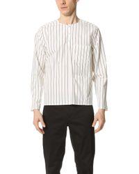 Opening Ceremony - Pinstripe Oversized Pocket Tunic Shirt - Lyst
