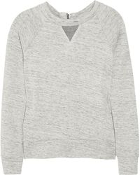 J Brand | Debbie Japanese Fleece Sweatshirt | Lyst