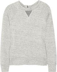 J Brand - Debbie Japanese Fleece Sweatshirt - Lyst