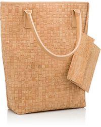 Pelcor - Capri Weave Shopper Nude - Lyst
