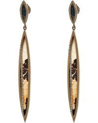 Monique Péan - Diamond, Agate, Spectrolite & Gold Earrings - Lyst
