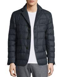 Moncler Rodin Button-down Puffer Shirt Jacket gray - Lyst