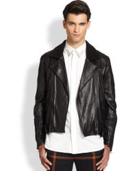 3.1 Phillip Lim Leather & Shearling Jacket - Lyst