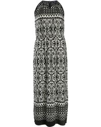 Samya Baroque Maxi Drawstring Dress - Lyst