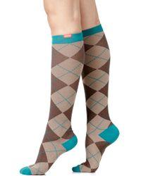 VIM & VIGR - Argyle Graduated Compression Trouser Socks - Lyst