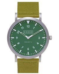 Shore Projects | 'anglesey' Leather Strap Watch | Lyst