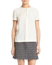 Tory Burch | Textured Crepe Top | Lyst