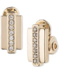 Anne Klein - Crystal Clip-on Earrings - Lyst