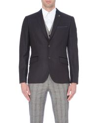 Ted Baker Wool Mix Pin-dot Blazer - Lyst