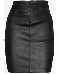 Rag & Bone Exclusive Leather Pencil Skirt Black - Lyst