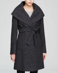 Calvin Klein Coat - Belted Wool Wrap - Lyst
