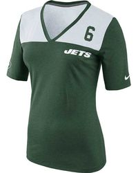 Nike Short-Sleeve Mark Sanchez New York Jets V-Neck T-Shirt  - Lyst