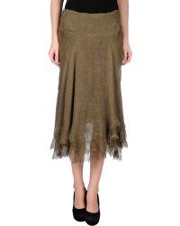 Ralph Lauren Black Label 3/4 Length Skirt - Lyst