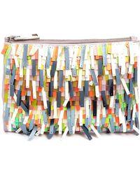 Asos Sequin Tassle Zip Top Clutch Bag - Lyst