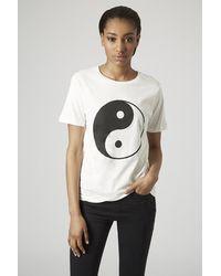Topshop Tall Yin Yang T-shirt - Lyst