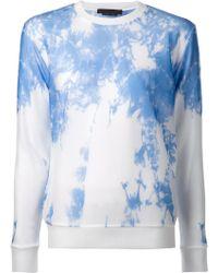 Alexander Wang Sheer Tie-Dye Sweater - Lyst