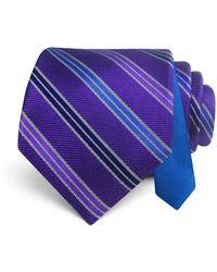 Happy Ties - Textured Stripe Classic Tie - Lyst