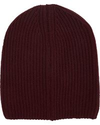 Barneys New York Purple Doubleface Beanie - Lyst