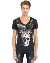 Philipp Plein In Cash We Trust Cotton Tshirt - Lyst